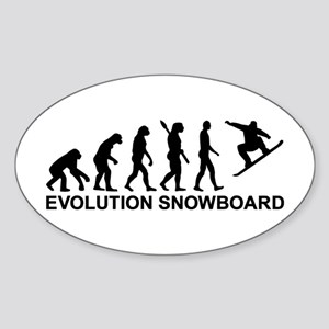 Evolution Snowboarding Snowboard Sticker (Oval)